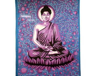 Large Blue Buddha Bedspread / Wall Art / Tapestry