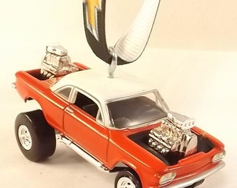 1963 Chevy Corvair Ornament - FREE SHIPPING - Christmas Ornament - JL Zinger