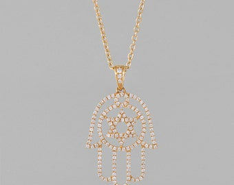 necklace of gold 14 K 108 diamonds 1.08 CT