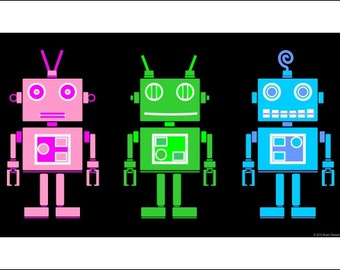 Robot Friends 11x17 Digital Download