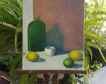 Green glass, lemon fresh