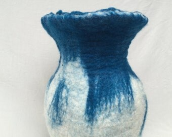 Hand Felted Wool Vase