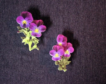 Purple Violet Flower Magnets