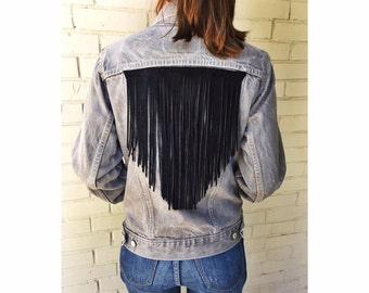 One of a kind vintage fringe jacket
