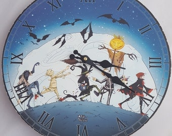 Halloween Witch Clock.