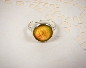 Yellow rose ring, Adjustable ring, Flower petal jewelry, Yellow ring, Mothers day gift, yellow Flower ring, Silver ring, Flower jewelry