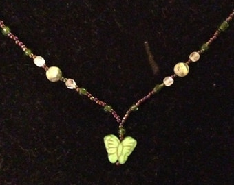 Garden Butterfly Girls Necklace