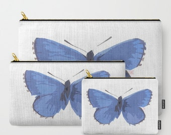 Butterfly Blues-Carry All Zipper Pouch -Set of 3