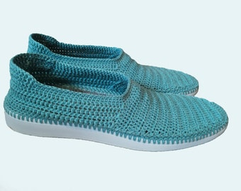 Crochet  Shoes for Men, Handmade Shoes for the Street, Father's Day Gift