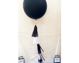Balloon tassel garland