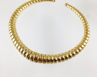 Vintage Golden Spiral Wrapped Coil Choker