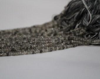 Black Rutilated Quartz Beads