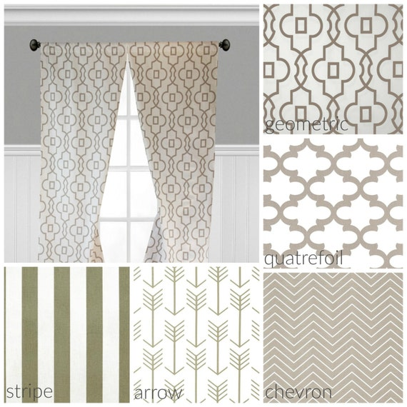 Beige And White Curtains