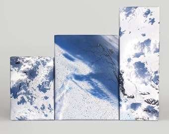 Snow Terrain from Space Wrapping Paper; Wrapping Paper; Snow Wrapping Paper; Gift Wrap; Winter Wrapping Paper; Christmas Wrapping Paper