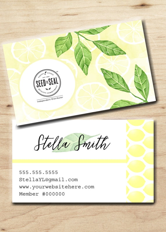 Young Living Business card Personalized by