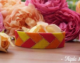 Cuff Bracelet LAURE beads Miyuki