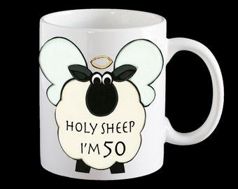 Funny birthday mug, 30th, 40th, 50th, 60th, 70th Birthday Mug, personalised coffee mug, funny sheep, birthday gift