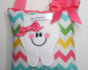 Tooth Fairy Pillow Multi Girl Chevron