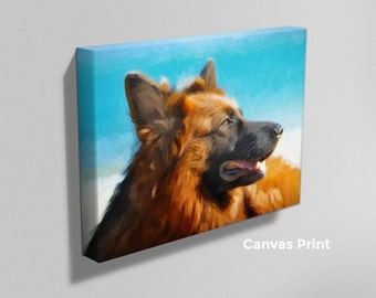 Pet Portrait - Digital Oil Painting of Your Dog, Cat or Other Animal - Digital File or Canvas Print