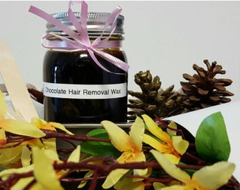 Natural Chocolate Hair Removal Wax Kit (32 oz), Kit Include-Chocolate Wax,2 Wax Applicator,5 Cotton Strips,