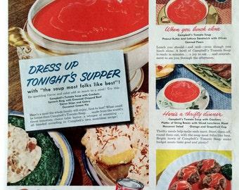 Original 1949 Campbell's Soup Ad