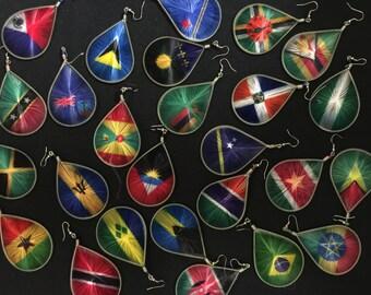 Thread Flag Earrings