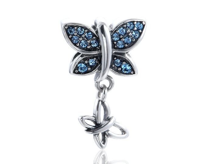 Dangling Butterfly Bead Charm
