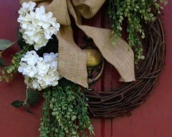 Wreath White Hydrangea