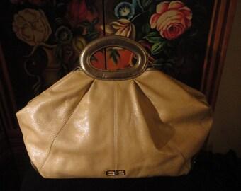 Vintage BALENCIAGA Paris Large Leather Handbag 19x15x7
