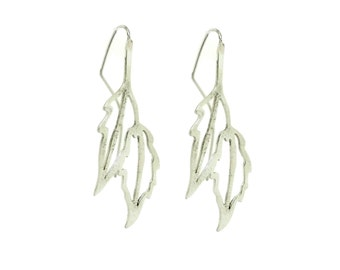 Leaf Earring, Leaf jewelry, 925 silver Earrings, everyday Earrings, silver Leaf, Leaf Jewell, dangle Leaf, drop earrings, dangle earrings