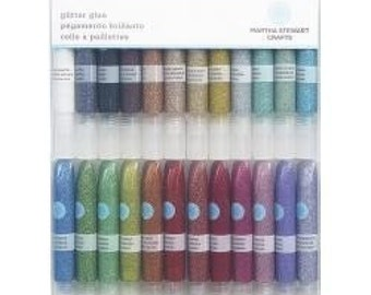 Martha Stewart Crafts 24 Piece Glitter Glue - Brand New!