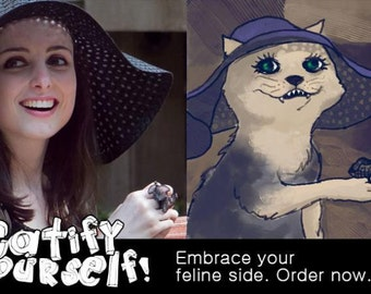 I will draw an amazing cat version of you for fun and family.