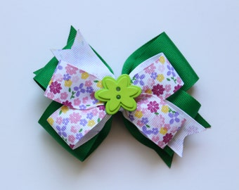 Green Flower Bow (Free Shipping in US)