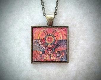 Alchemy Pendant, 17th Century, Renaissance, Antique Bronze, Magic/Magick, Hermetic, Alchemical Art