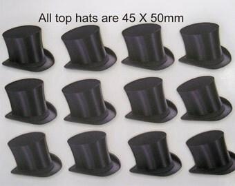 GENTLEMANS. TOP HATS.  A pack of 12 X Top Hats