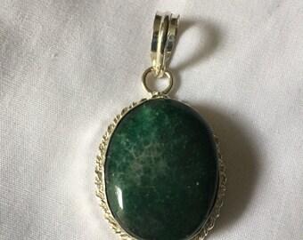 Green Emerald Gemstone Pendant