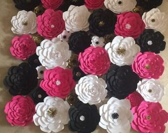 Custom 8ft x 8 ft paper flower wall
