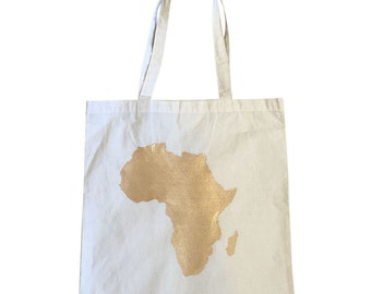 Africa Canvas Tote - Handpainted