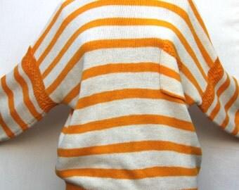 Vintage Striped Yellow Jumper