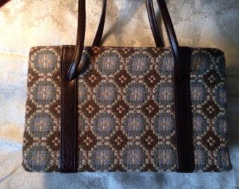 Vintage Welsh Tapestry Handbag