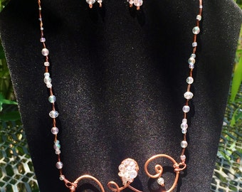 Crystal Scroll Jewelry Set