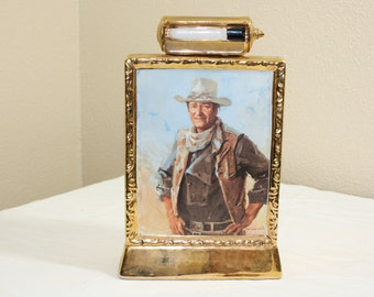Vintage John Wayne Decanter (Used) / 23k gold plated