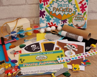 Pirate Adventure Box - Kids Craft Kit, Activity Box, Gifts for Kids, Kids Holiday Project, Fun Craft Pack, Pirate Birthday, Easy Kids Craft