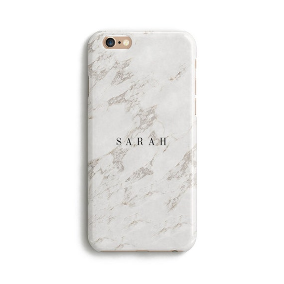 White marble name custom - iPhone 7 case, Samsung Galaxy S7 case ...