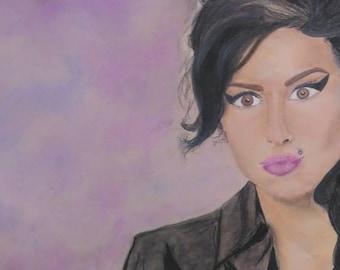 Amy Winehouse pastel drawing