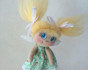 Textile doll angel - Summer freshness. Текстильный ангел - Летняя свежесть
