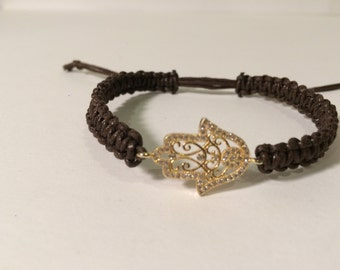 lace hamsa hand bracelet