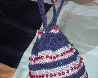 Authentic small purse vintage 1940 s 50 s! rope.