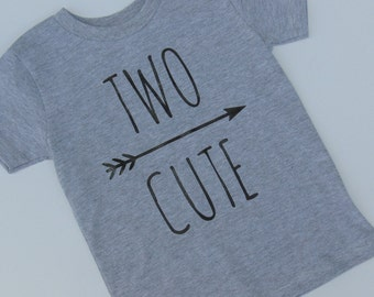 Two Cute Second Birthday Shirt with Arrow