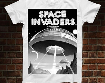 Space Invaders Box Art T-Shirt